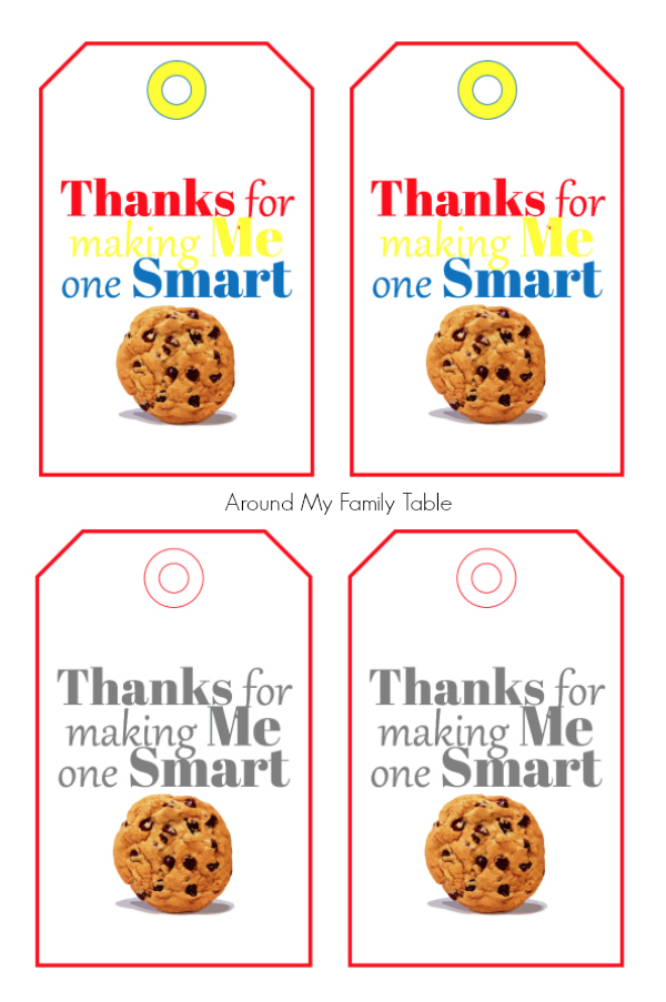This simple One Smart Cookie Teacher Appreciation Gift and Printable is budget friendly and easy to put together during the busy end of school hussle.  #teacherappreciation #teachergifts