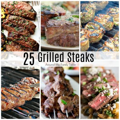grilled steak collage