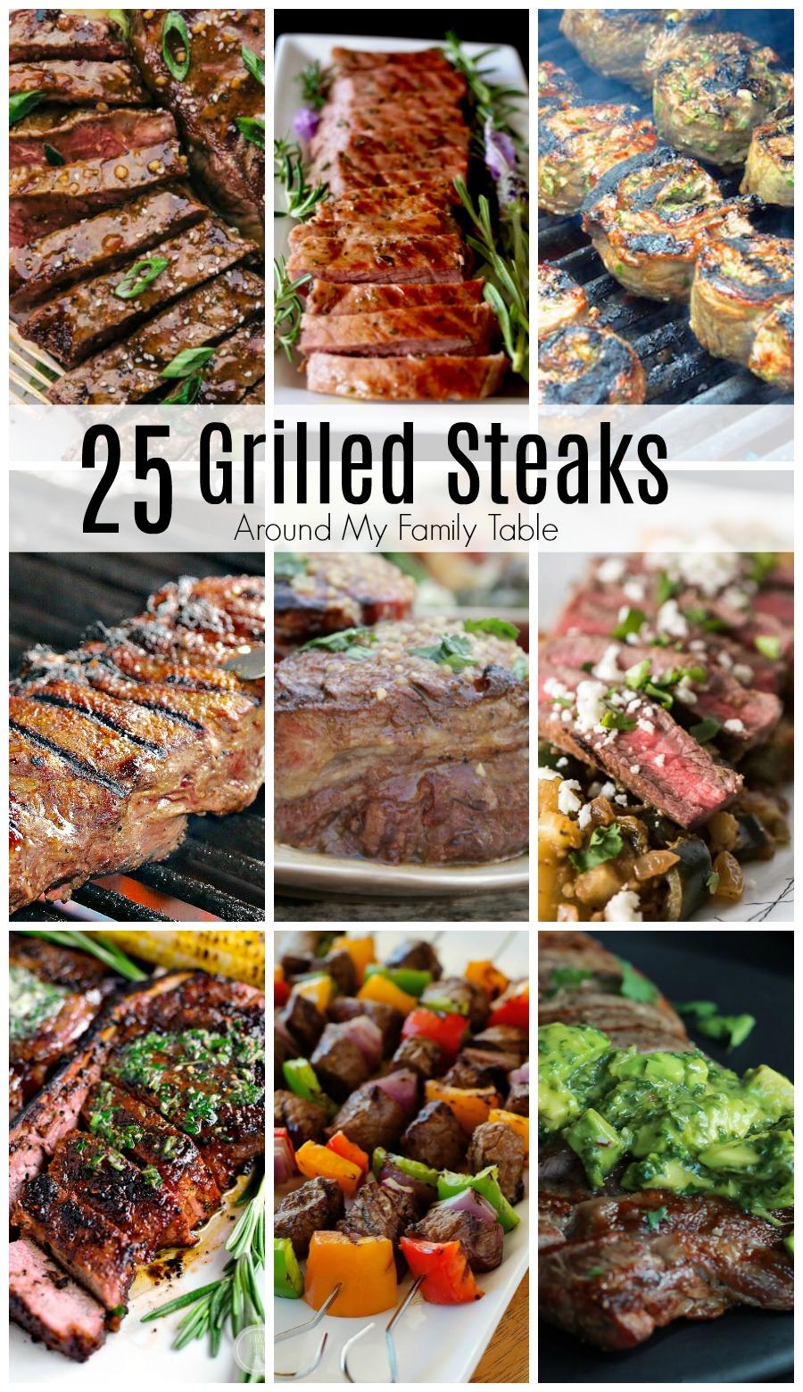 grilled steak collage