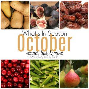 What's in Season October