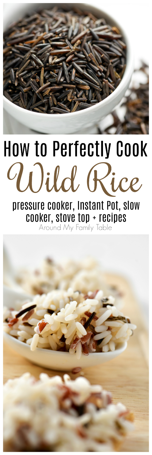 Everything you've wanted to know about wild rice.  This How to Cook: Wild Rice guide features instructions on using a pressure cooker, instant pot, slow cooker, and stovetop for cooking wild rice, plus there are a few delicious recipes to try as well.