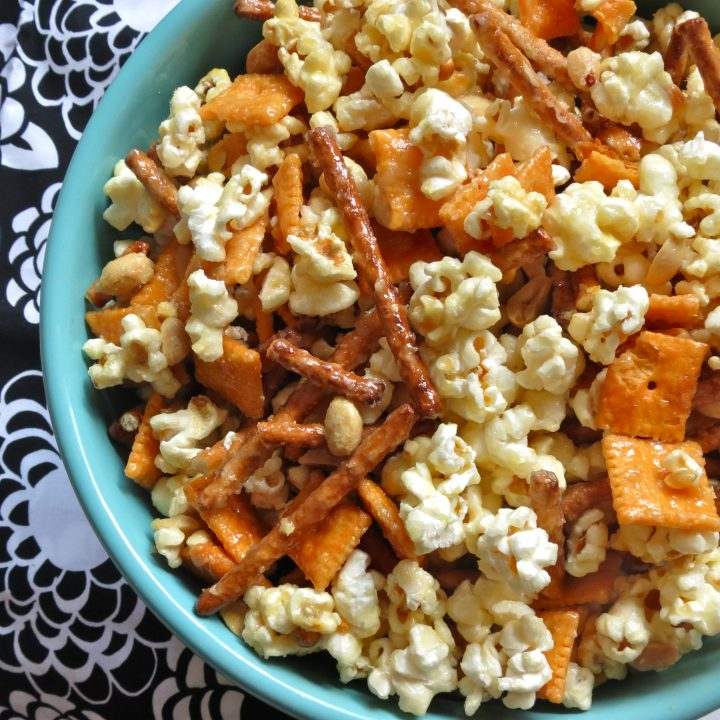 Everything but the Kitchen Sink Caramel Corn Snack Mix