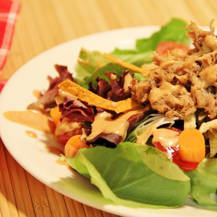 sweet slow cooker pork salad