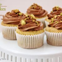 Pistachio Cupcakes with Chocolate Frosting