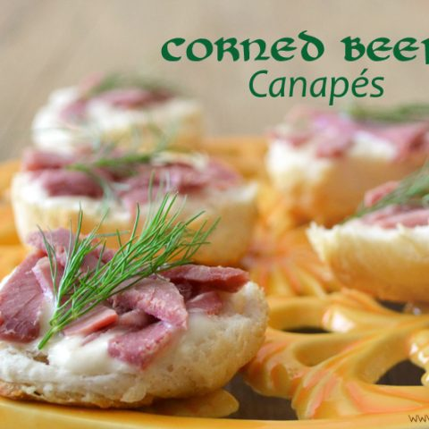 Healthy Corned Beef Canapes