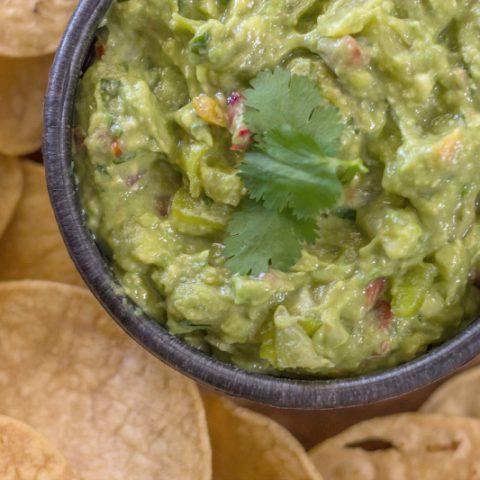 Green Chile Guacamole