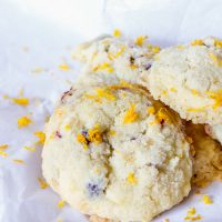 Orange Cranberry Sugar Cookies {Gluten & Dairy Free}