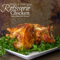 Rotisserie Chicken and a Basic Rub Recipe