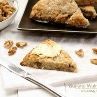 Banana Walnut Scones (Gluten Free and Vegan)