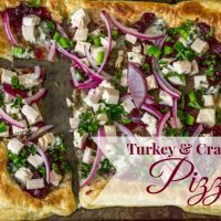 Turkey, Cranberry, and Blue Cheese Pizza