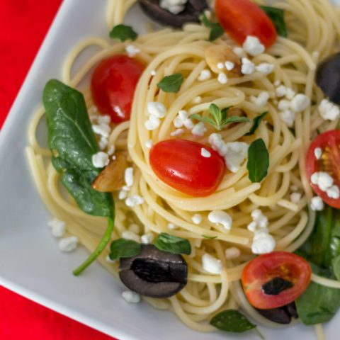 Vegetarian Greek Pasta with Feta