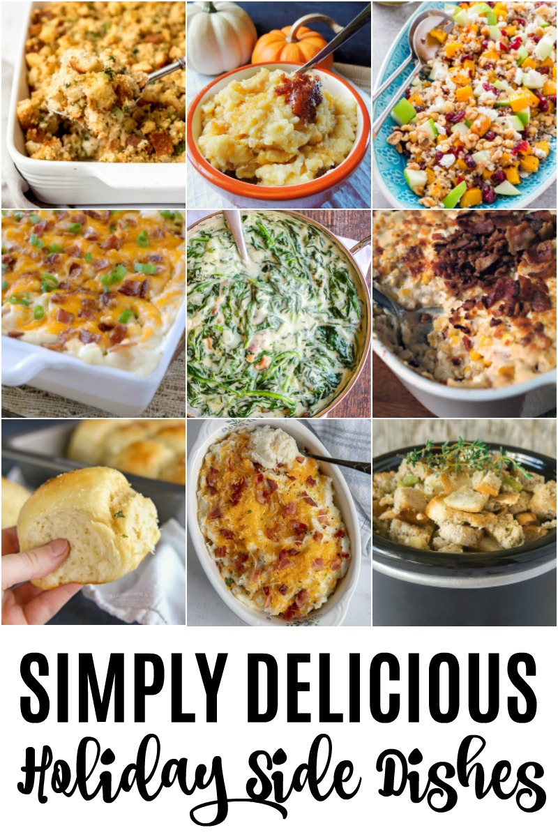 holiday side dish collage