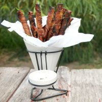 Bacon-Wrapped Ranch Pretzels
