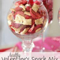 Healthy Valentine's Snack Mix
