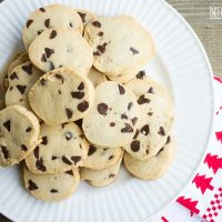 Eggnog Chocolate Chip Butter Cookies