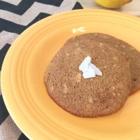 Lemon Coconut Oat Cookies
