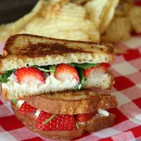 Grilled Strawberry and Goat Cheese Sandwich
