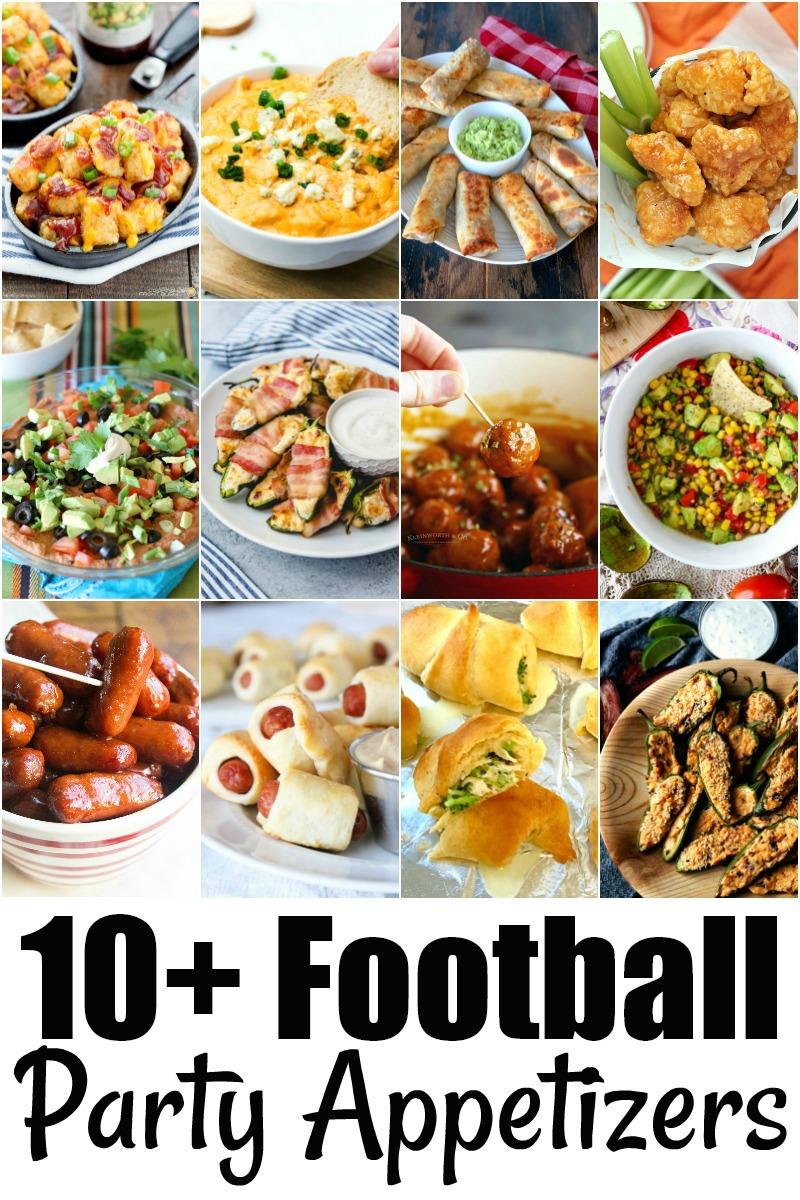 10+ Football Party Appetizers that are perfect for a homegating party!