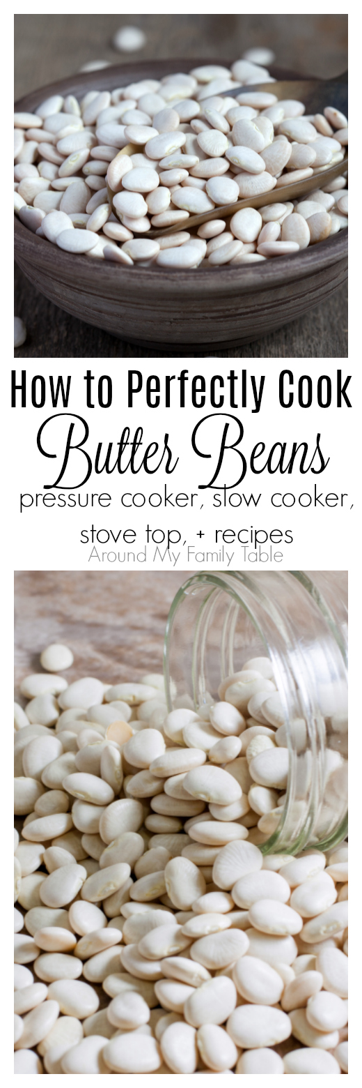 This How to Cook Butter Beans (aka Lima Beans) guide has instructions on how to cook them in a slow cooker, pressure cooker, & stovetop. Recipes included.