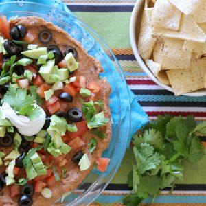 Healthy Layered Taco Dip