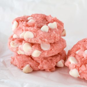 Strawberry and White Chocolate Cookies
