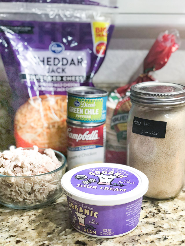 Sour Cream Chicken Enchiladas Ingredients
