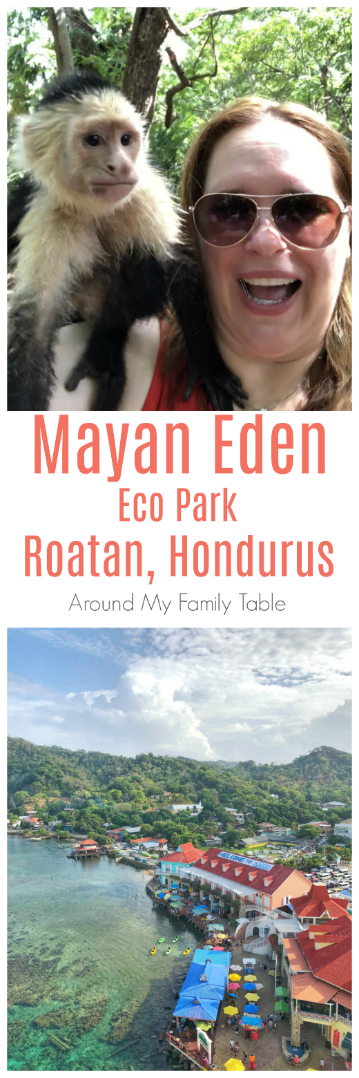 The Mayan Eden Eco Park in Roatan, Honduras is a fun and interactive experience the whole family will enjoy.