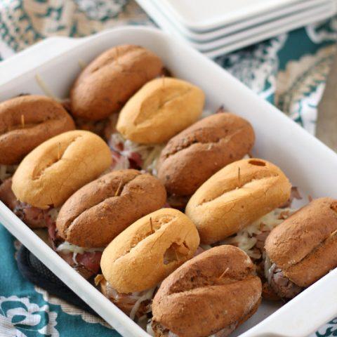 Baked Hot Pastrami Sliders