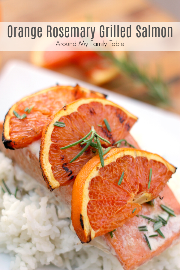 Combining the robust flavors of orange and rosemary are a delicious addition to grilled sweet salmon. Add this Orange Rosemary Grilled Salmon to your summer menu! via @slingmama