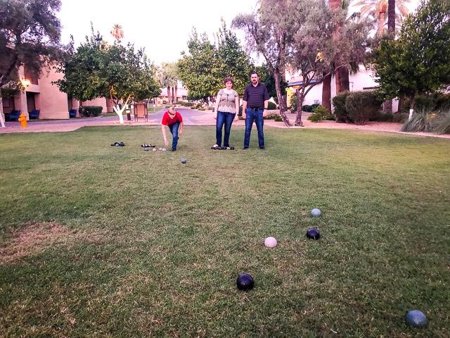 bocce ball at Omni Resort