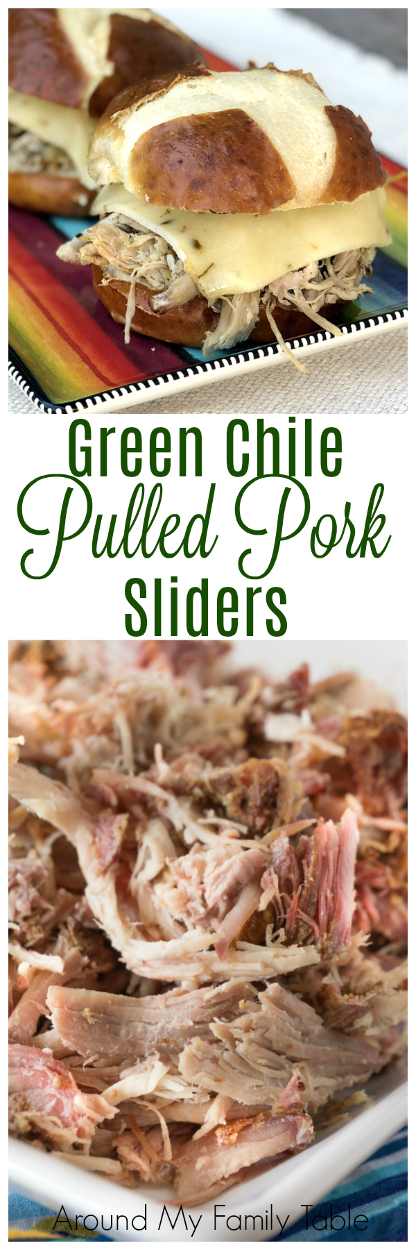 green chile pulled pork and sliders