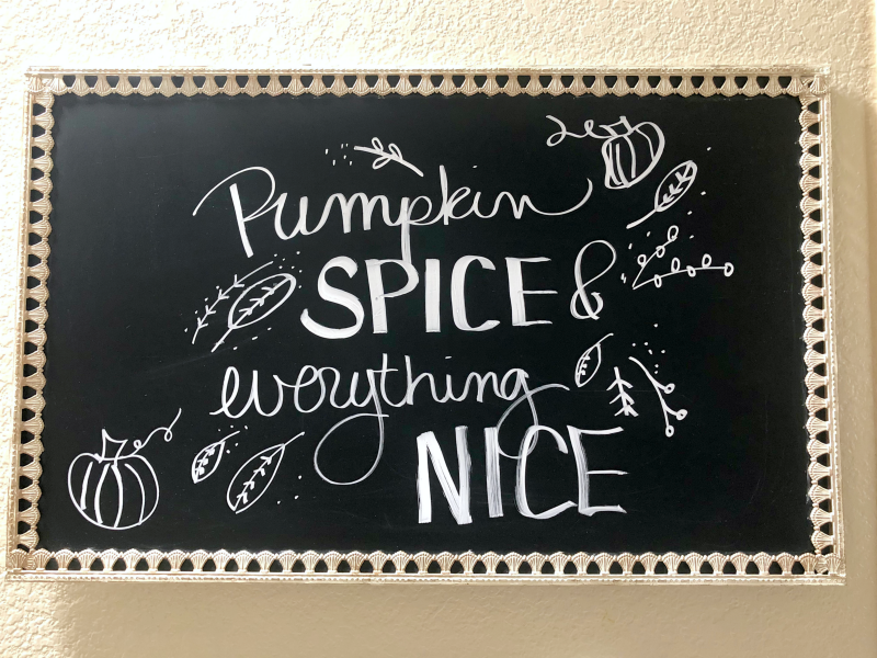 Pumpkin Spice & Everything Nice board
