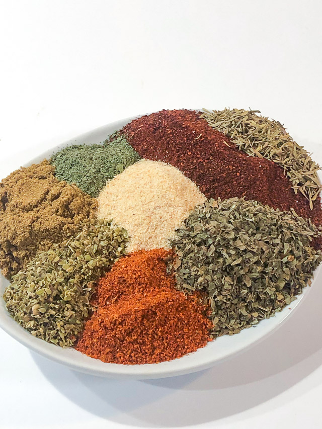 Homemade Southwest Chipotle Seasoning in a white bowl