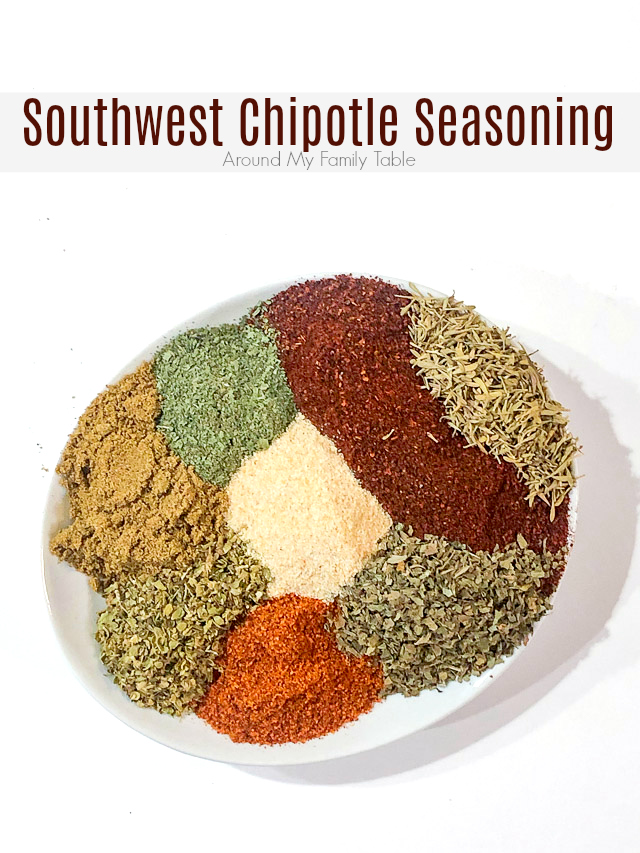 Homemade Southwest Chipotle Seasoning is a mixture of herbs and spices, that you probably already have in your pantry. It's easy and delicious. Double or triple it for easy weeknight dinners for months. via @slingmama