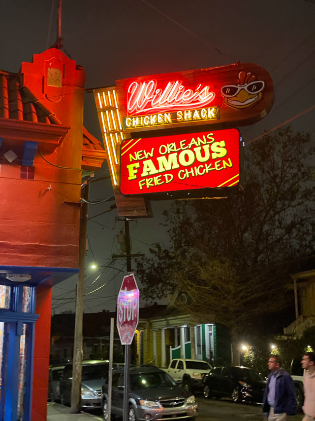 Willie's Chicken Shack in New Orleans