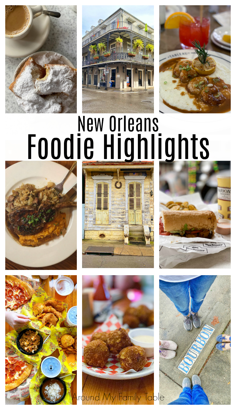 new orleans foods and sites collage