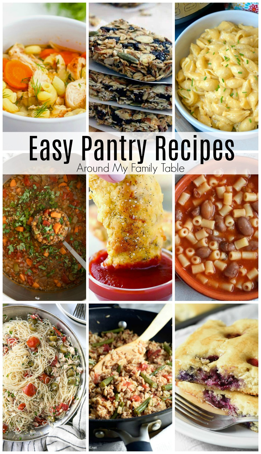 Easy Pantry Recipes are a great option whether you are trying to live within a small budget, quarantined to your home during a pandemic or natural disaster, or just trying to use up what you have for a pantry challenge. via @slingmama