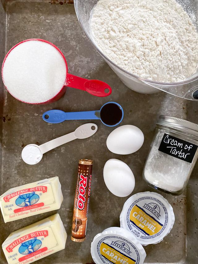Double Caramel Sugar Cookies Ingredients