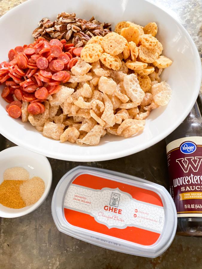 Low Carb Keto Snack Mix ingredients