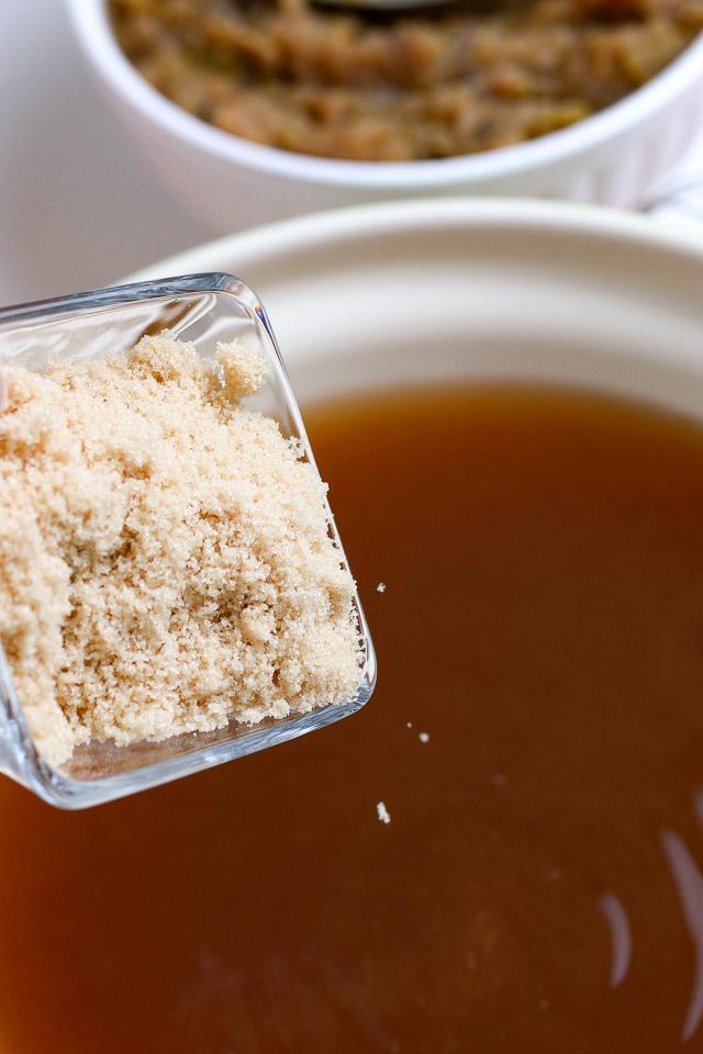 adding brown sugar to apple cider