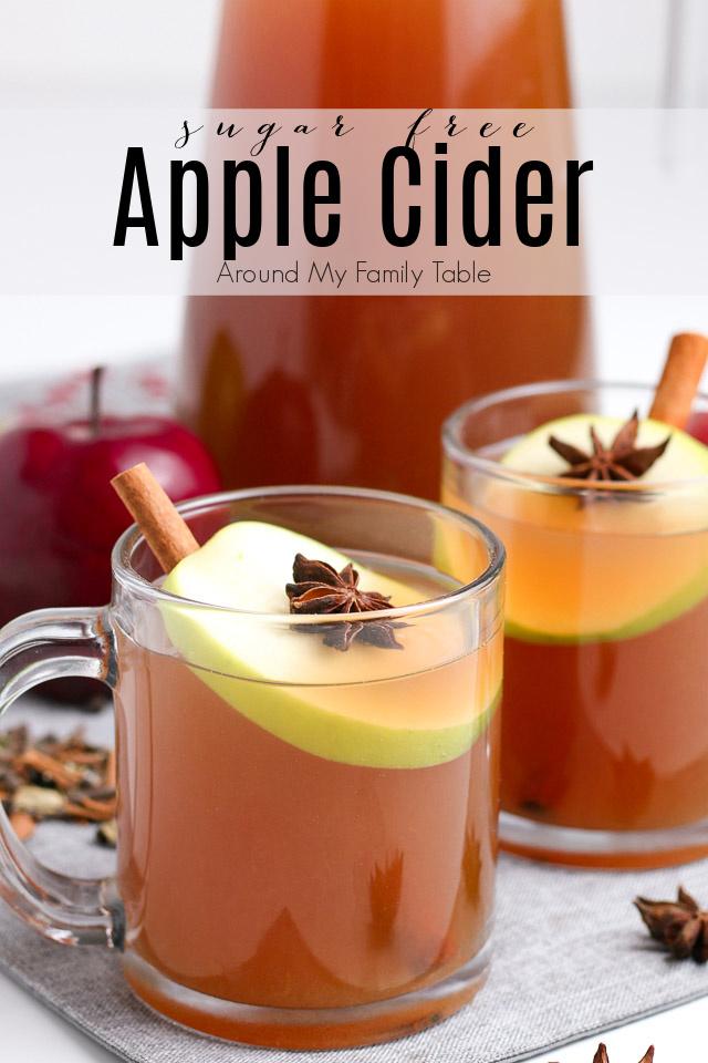 2 mugs of sugar free apple cider