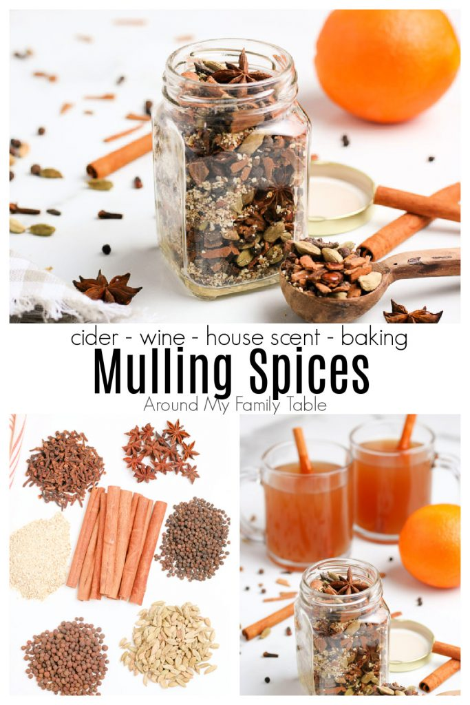 Mulling spices collage
