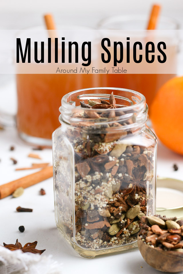 Mulling spices in a jar and made into a drink